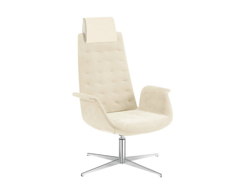Executive chair with headrest MODÀ LOUNGE | Executive chair by Sesta