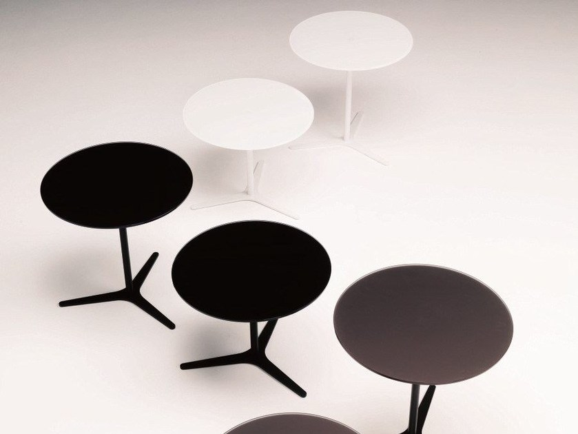 Contemporary style low crystal coffee table for living room ELICA by Bontempi