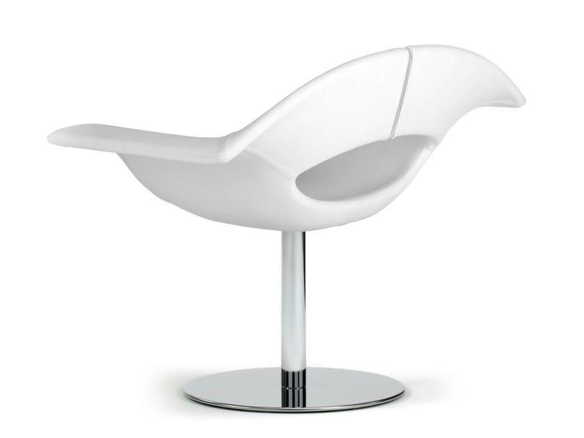 Girevole Design In Pelle True GeaPoltroncina yv8ONw0mn