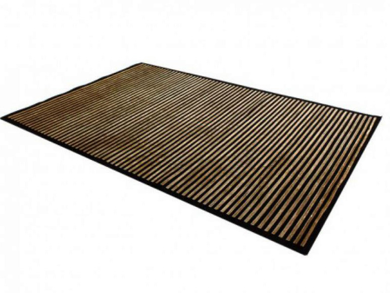 Handmade rectangular striped rug ELEGANCE PACIFIC LINE   Handmade rug by EBRU