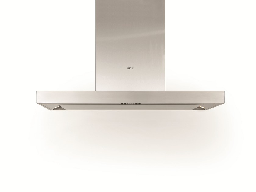 Island hood with integrated lighting 7645 FLAT'LINE by NOVY