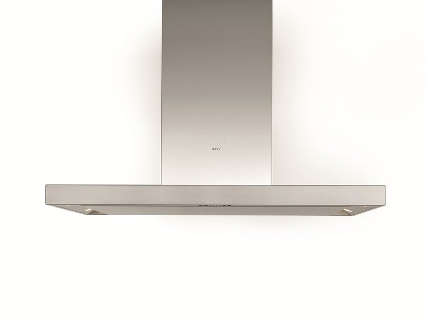 Island hood with integrated lighting 7650 FLAT'LINE by NOVY