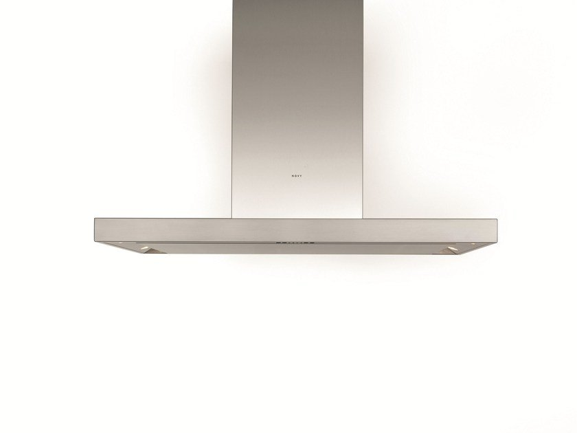 Island hood with integrated lighting 7655 FLAT'LINE by NOVY