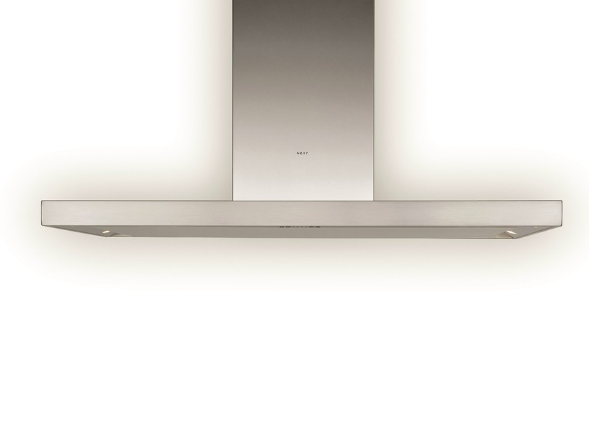 Island hood with integrated lighting 7660 FLAT'LINE by NOVY