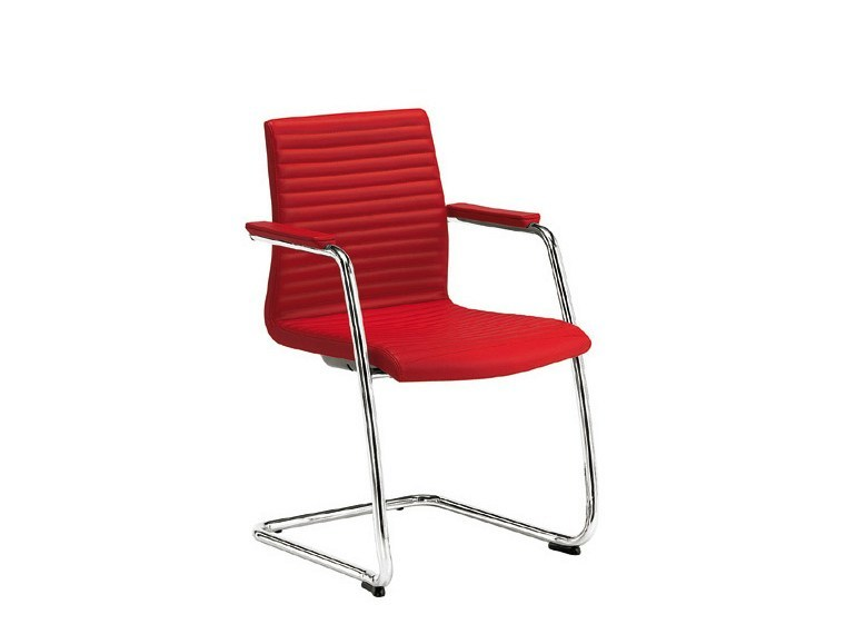 Cantilever chair with armrests MODE TC STRIP | Cantilever chair by Sesta