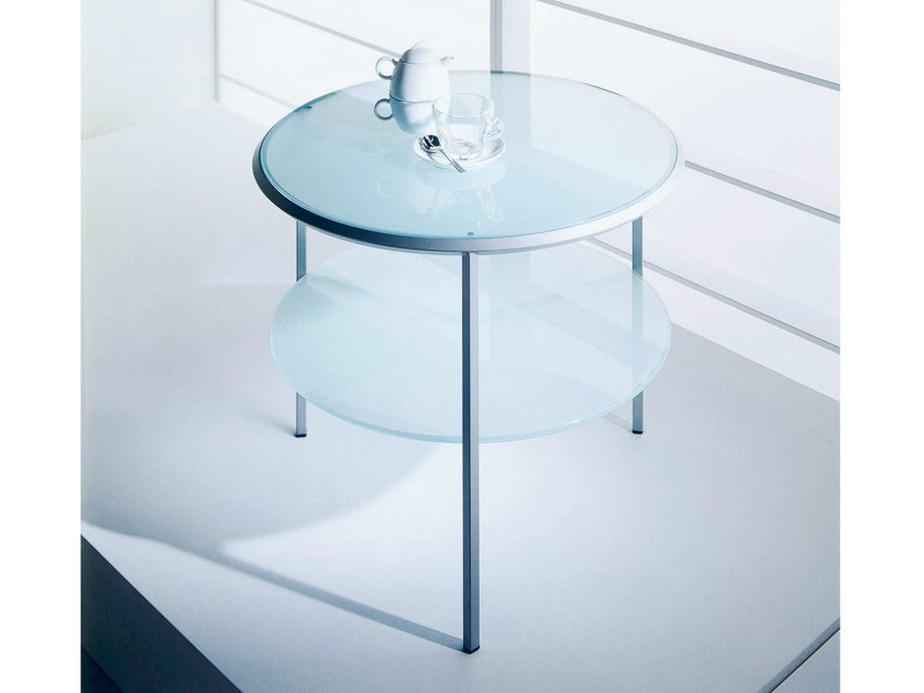 Coffee table for living room DIAGONAL   Round coffee table by Bontempi