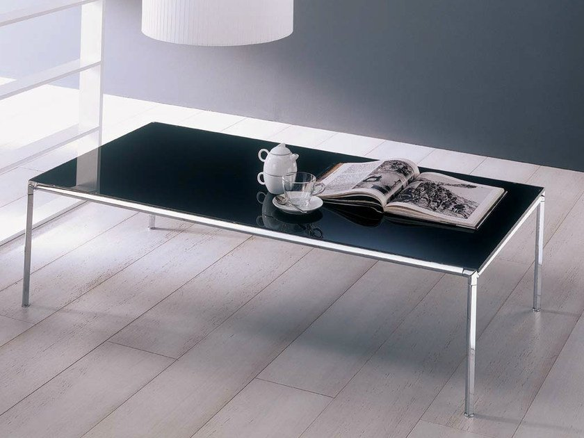 Low crystal coffee table for living room DIAGONAL | Rectangular coffee table by Bontempi
