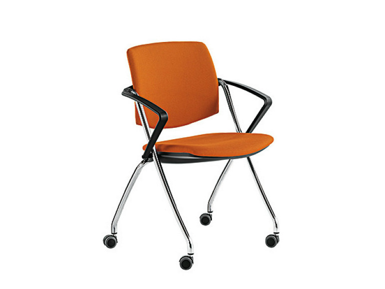 Chair with armrests with casters Q-GO   Chair with casters by Sesta