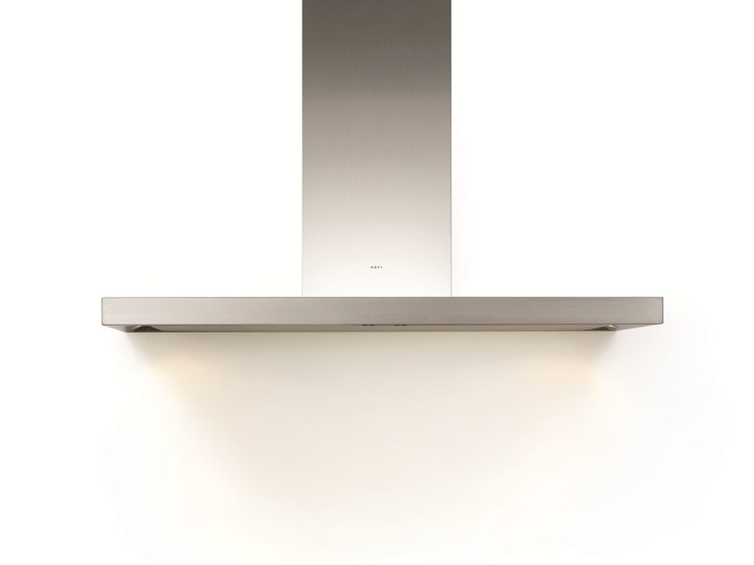 Wall-mounted cooker hood with integrated lighting 7615 FLAT'LINE by NOVY