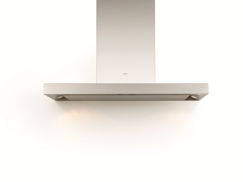Wall-mounted cooker hood with integrated lighting 7605 FLAT'LINE by NOVY