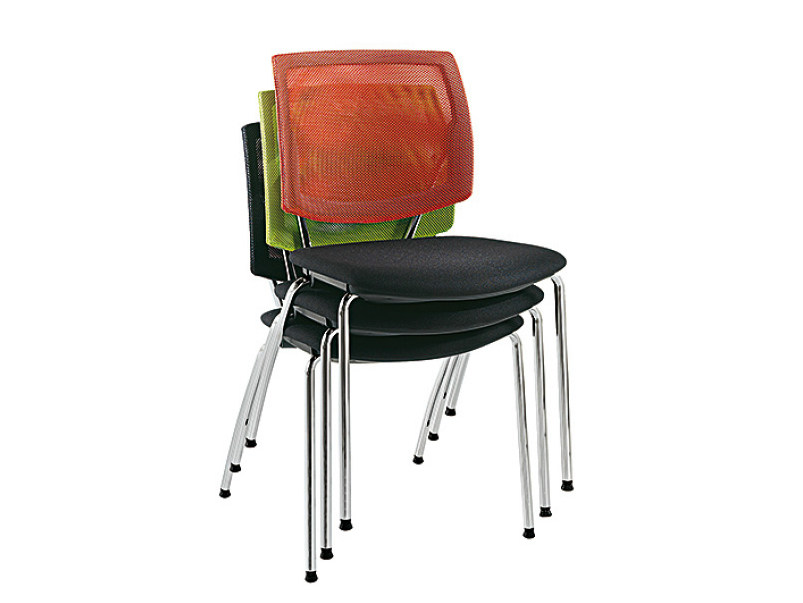 Stackable reception chair Q-FOUR | Stackable chair by Sesta