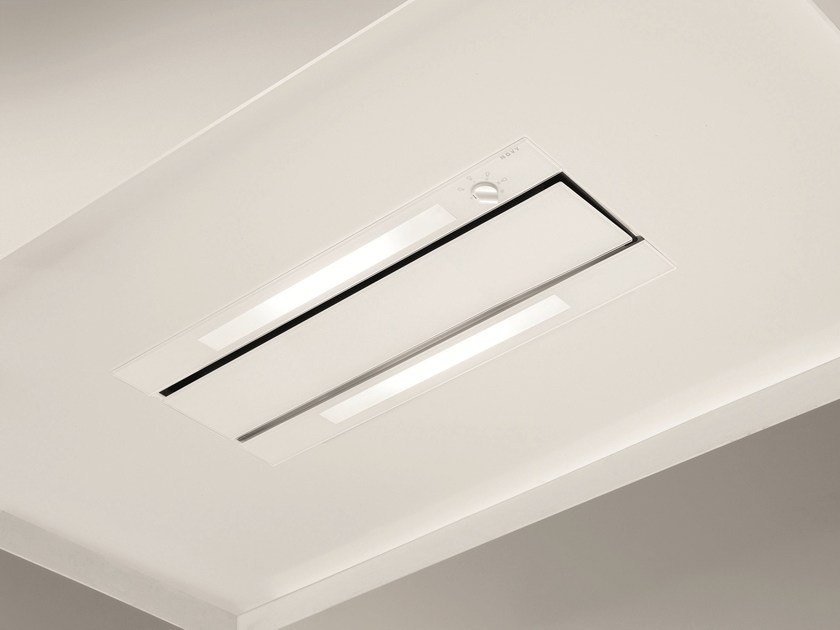 Ceiling-mounted built-in cooker hood with integrated lighting 877 GLASS by NOVY