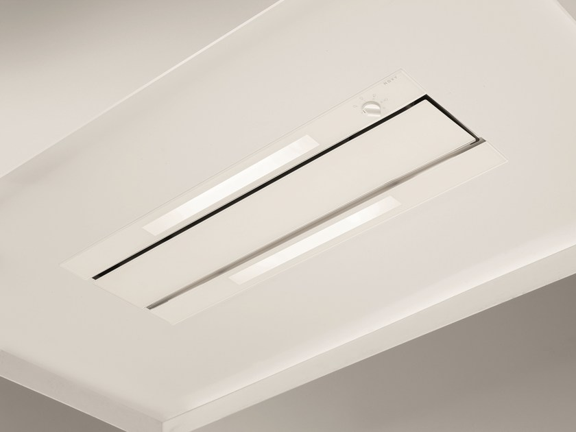 Ceiling-mounted built-in cooker hood with integrated lighting 876 GLASS by NOVY
