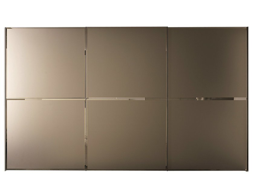 Etched glass wardrobe with sliding doors BRILLANTA   Wardrobe with sliding doors by MisuraEmme