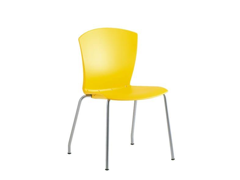 Polypropylene reception chair CARINA | Reception chair by Sesta
