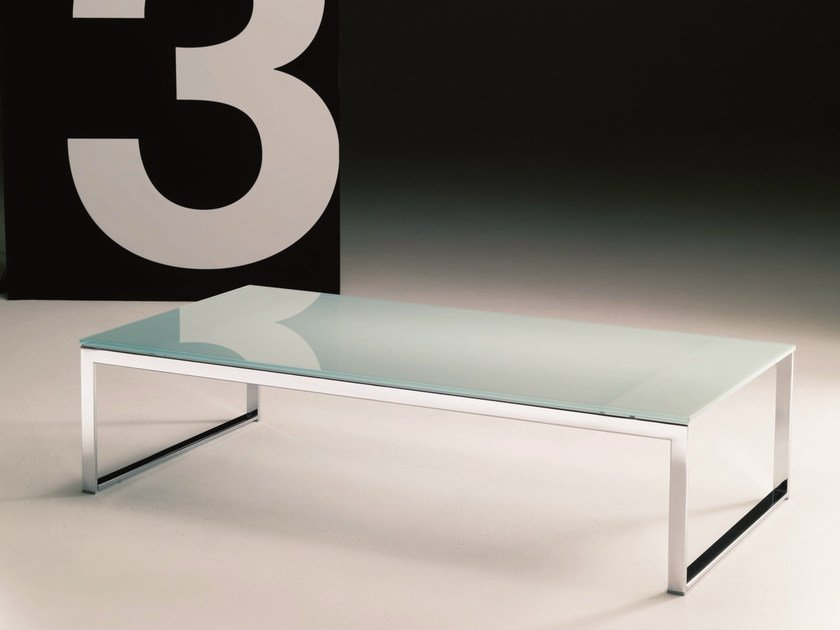 Crystal coffee table for living room HIPHOP | Rectangular coffee table by Bontempi