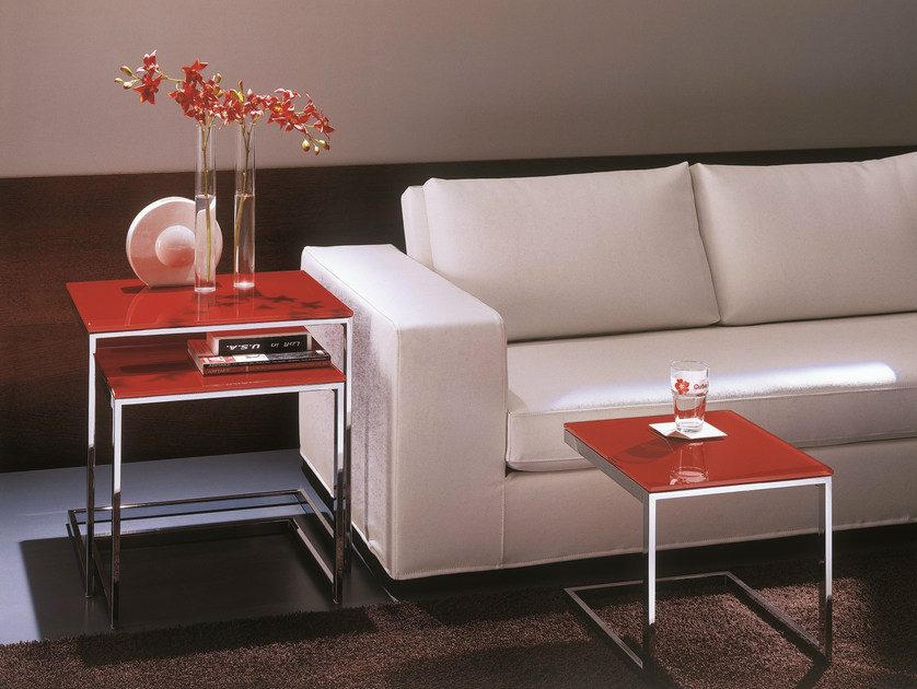 Crystal coffee table for living room HIPHOP | Modular coffee table by Bontempi