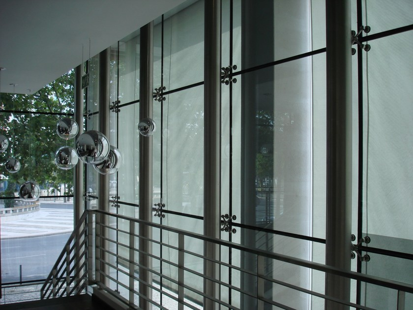 Continuous facade system FITECHNIC Glass Fitting MODEL 1 by Pentagonal