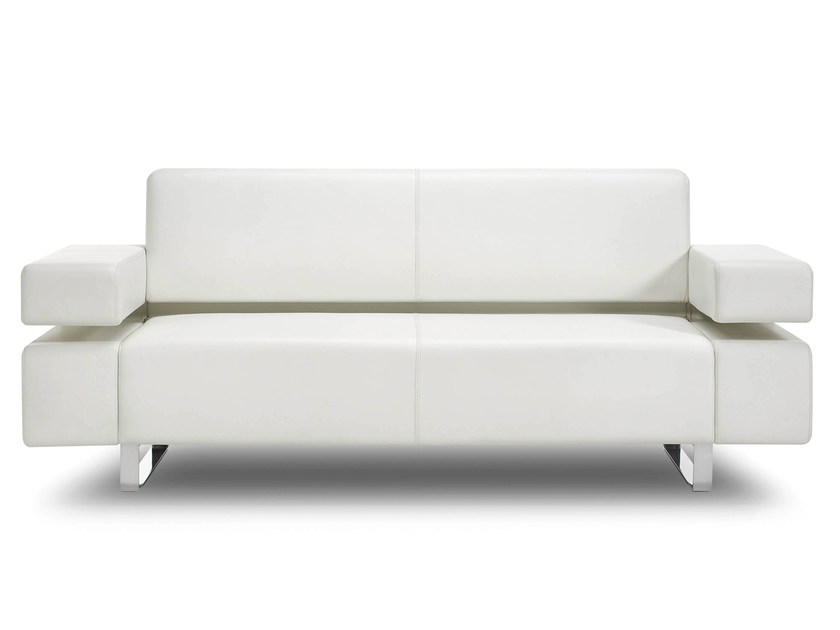 Sled Base 2 Seater Leather Sofa Poseidone By True Design