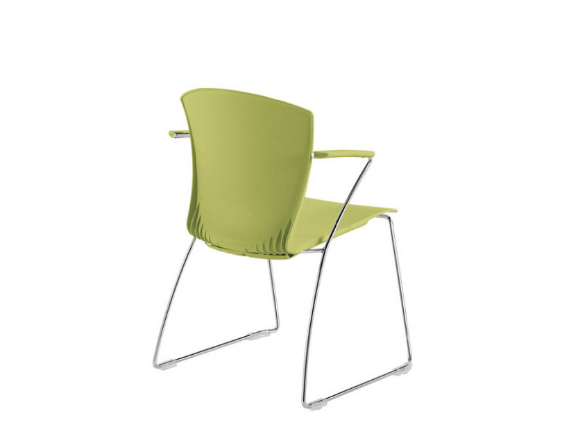 Sled base chair with armrests CARINA SKID | Sled base chair by Sesta