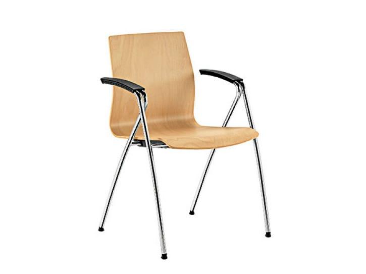 Beech reception chair Q-2   Beech chair by Sesta