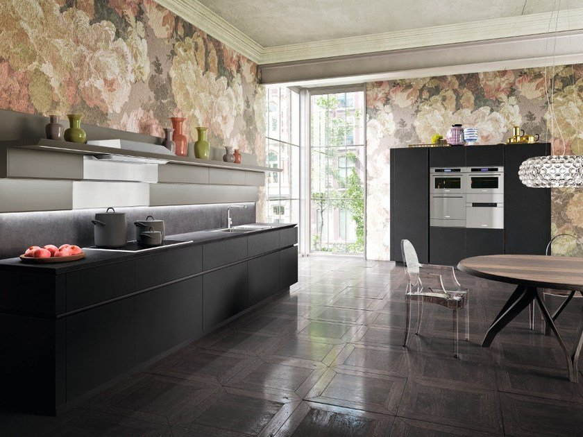 Lacquered linear kitchen without handles IDEA   Linear kitchen by Snaidero
