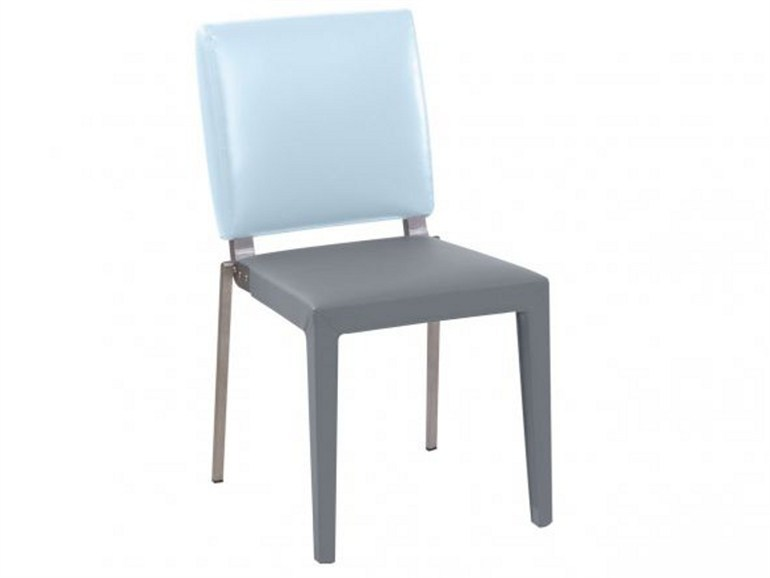 Grey rectangular chair ADULIS | Chair by GAUTIER FRANCE