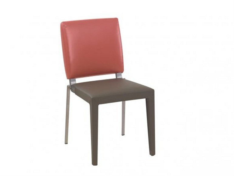 Taupe rectangular chair ADULIS | Chair by GAUTIER FRANCE