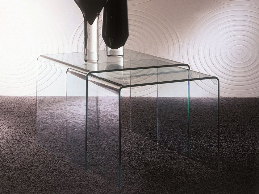 Low modular crystal coffee table IGLOO by Bontempi