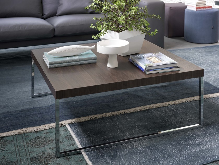 Coffee table for living room PLAZA | Square coffee table by Bontempi