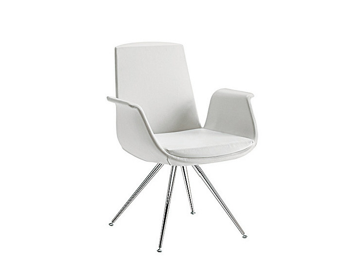 Trestle-based easy chair with armrests MODÌ | Trestle-based easy chair by Sesta