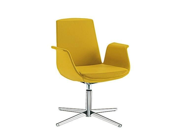 Swivel easy chair with 4-spoke base MODÌ | Easy chair with 4-spoke base by Sesta