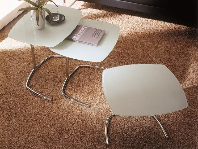 Crystal coffee table for living room SPACE by Bontempi