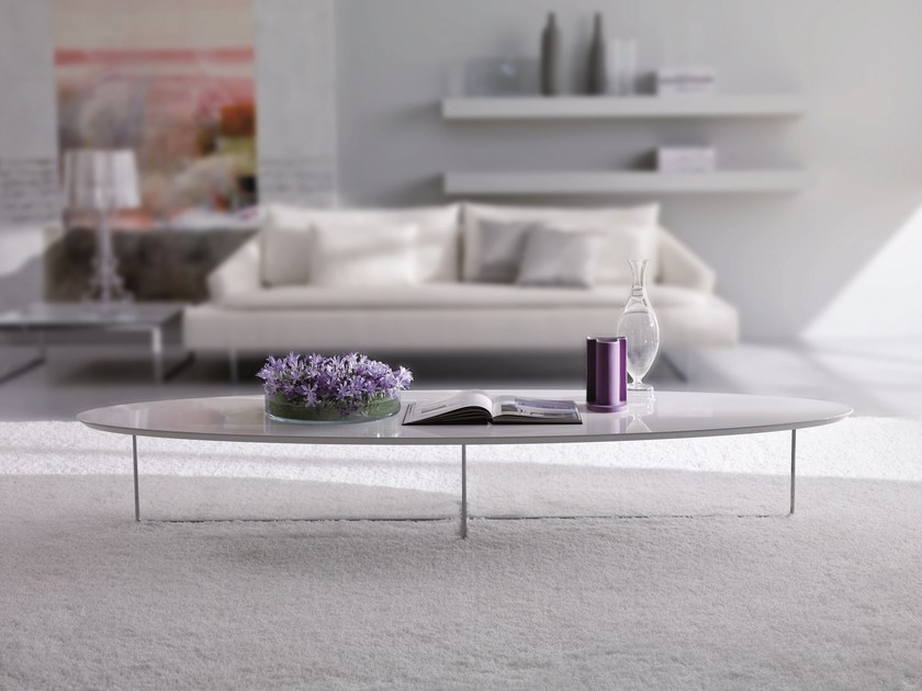 Lacquered coffee table for living room GROUND by Bontempi