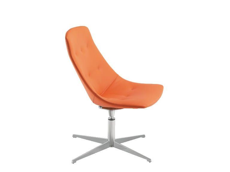 Swivel easy chair with 4-spoke base FREE   Swivel easy chair by Sesta
