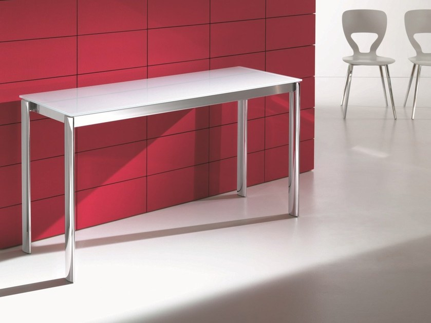 Extending crystal console table ETICO by Bontempi