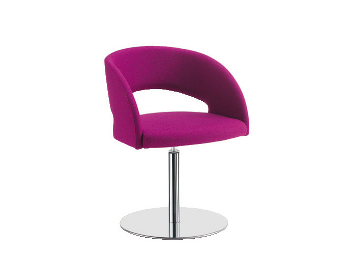Swivel easy chair with armrests LOLA | Swivel easy chair by Sesta