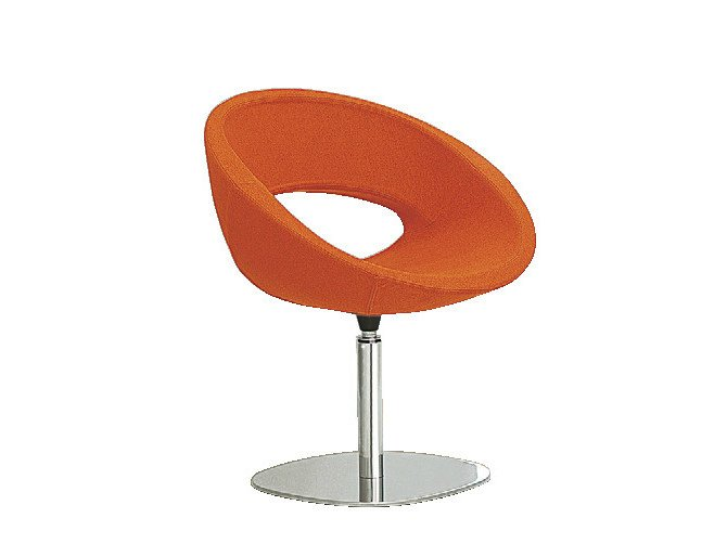 Swivel easy chair with armrests SMILE | Swivel easy chair by Sesta