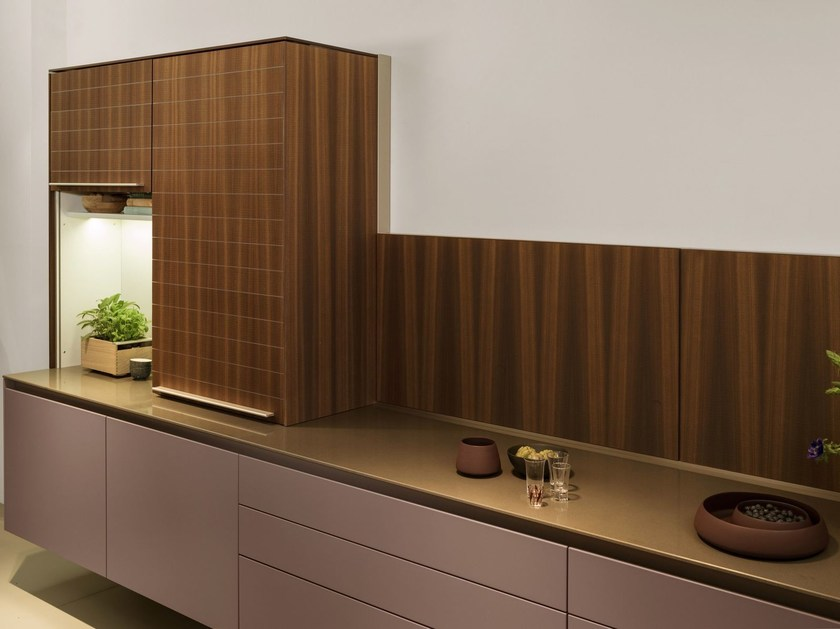 Hideaway stainless steel and wood kitchen B3 | Hideaway kitchen by Bulthaup