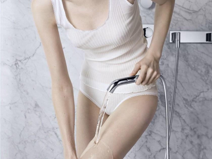 Handshower with hose for shower PERFORMING WATER | Handshower for shower by Dornbracht