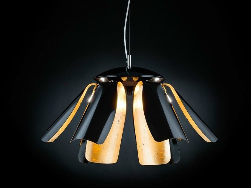 Gold leaf pendant lamp TROPIC | Pendant lamp by Metal Lux
