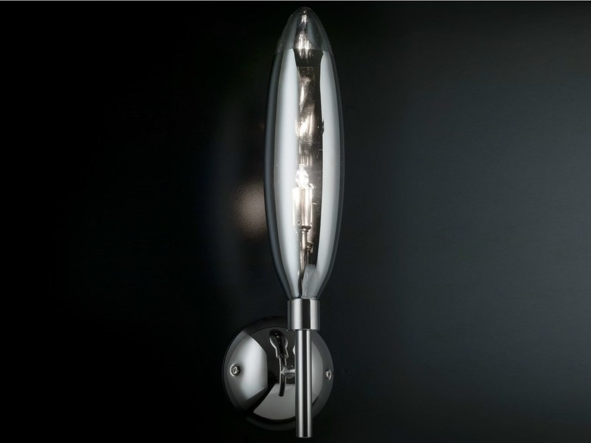 Mirrored glass wall lamp FLO | Wall lamp by Metal Lux