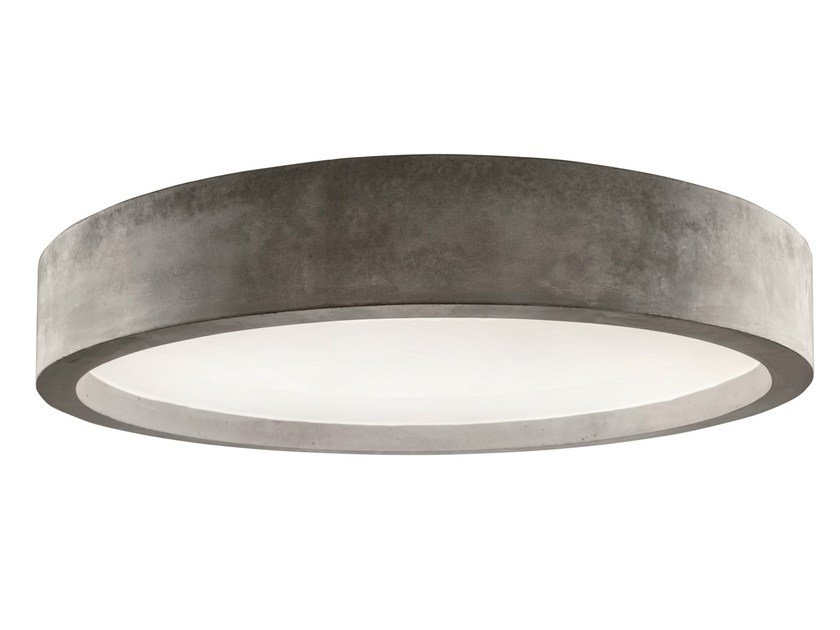 LED cement ceiling lamp ZERO51 | Ceiling lamp by LUCIFERO'S