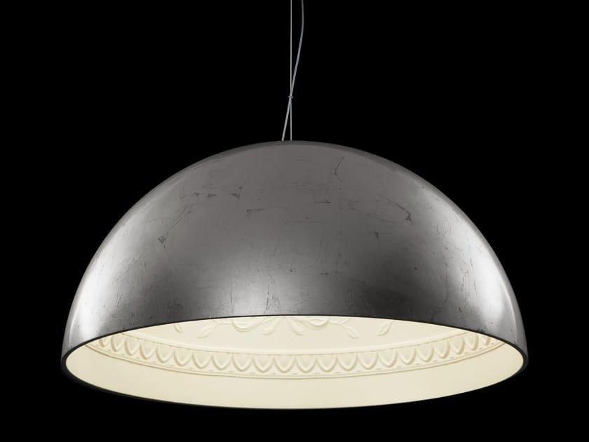 Silver leaf pendant lamp CHIARODÌ | Pendant lamp by Metal Lux