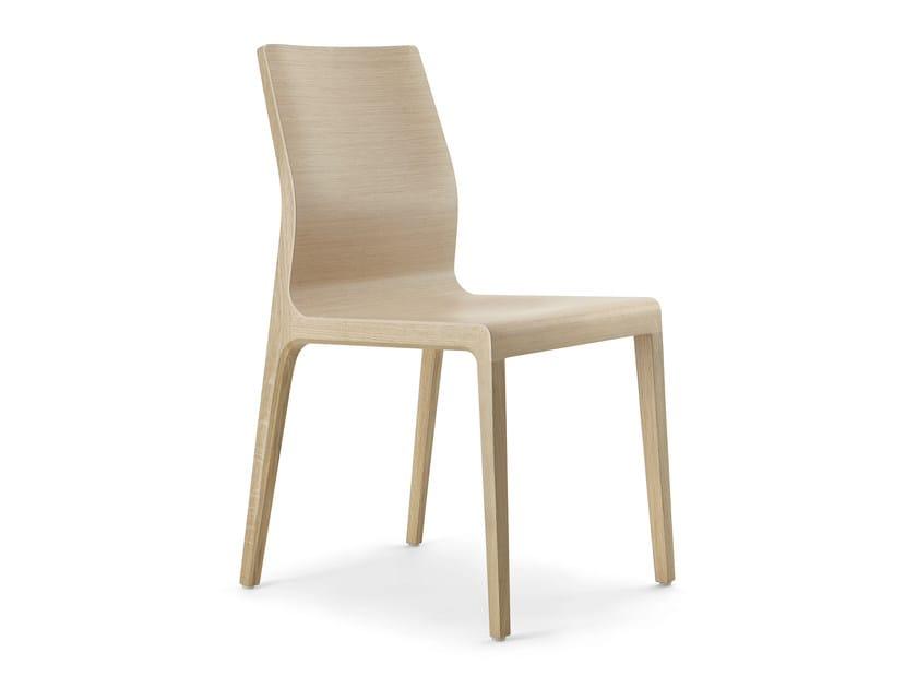 Multi-layer wood chair SURF | Chair by Cizeta