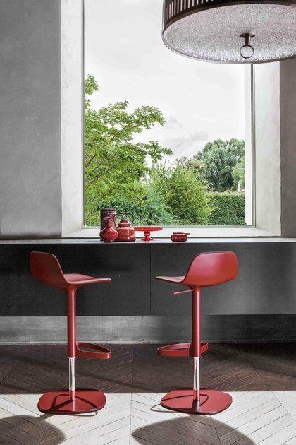 Swivel Height Adjustable Stool Bonnie By Bonaldo Design