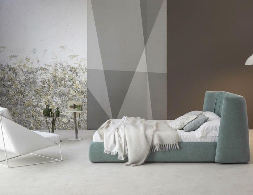 Double bed with upholstered headboard basket plus by bonaldo design mauro lipparini - Ikea letti matrimoniali imbottiti ...