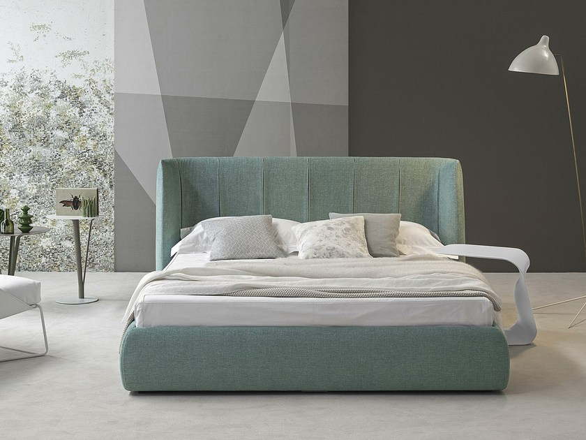 Double bed with upholstered headboard BASKET PLUS by Bonaldo