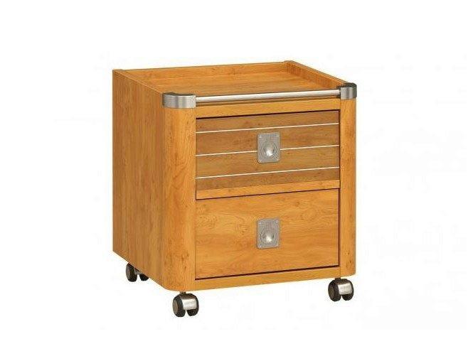 Wooden kids' bedside table with casters MAJESTIC by GAUTIER FRANCE