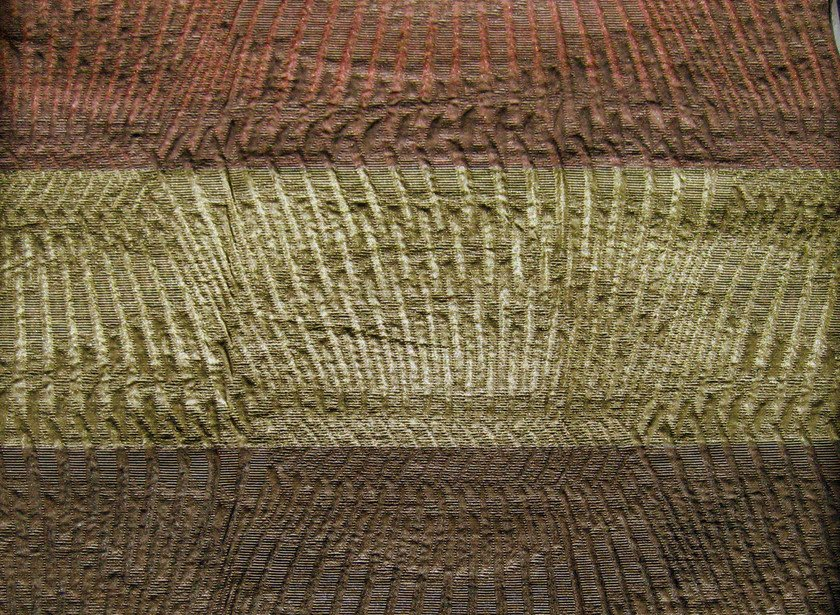 Striped cotton fabric GOTHAM DARK by KOHRO